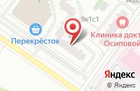 Схема проезда до компании Монопринт в Москве