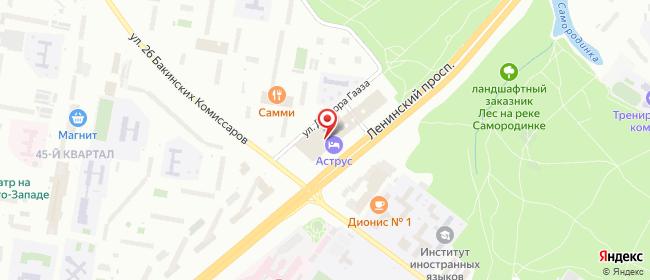 Карта расположения пункта доставки Москва Ленинский в городе Москва