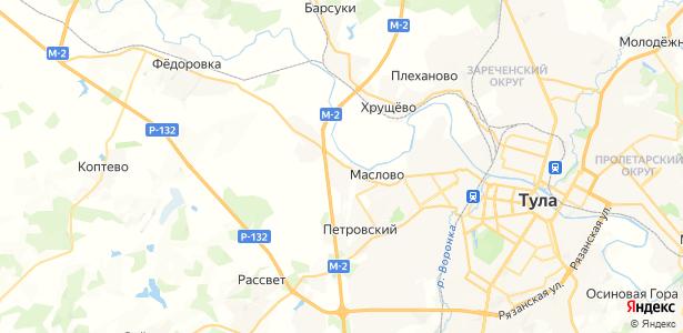 Маслово на карте