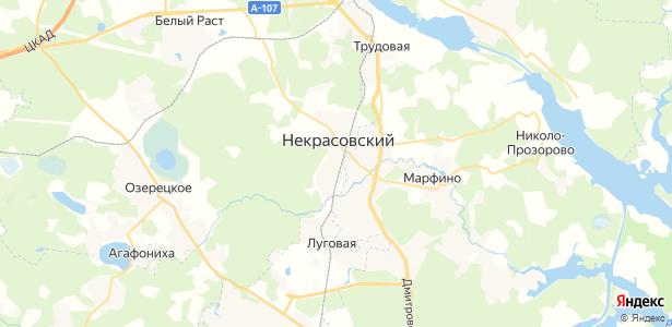 Некрасовский на карте