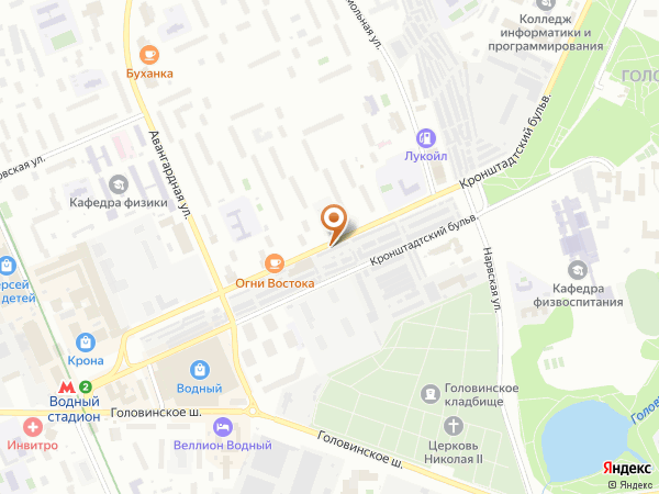 Остановка Кронштадтский бульв. в Москве