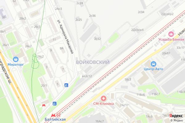 Ремонт телевизоров Район Войковский на яндекс карте
