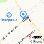 Магазин зоотоваров на карте Щёкино