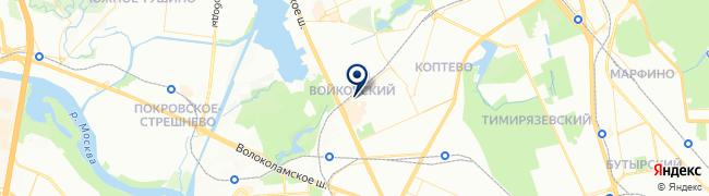 Расположение клиники «СМ-Клиника»  в Старопетровском проезде