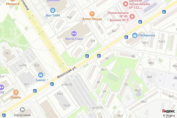 Ремонт телевизоров Улица Флотская на яндекс карте