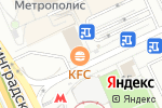 Схема проезда до компании KFC в Москве