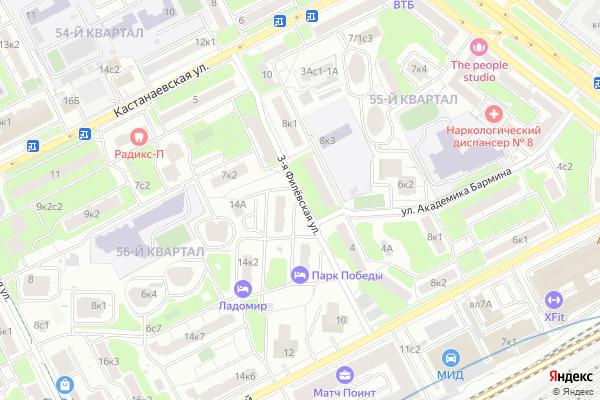 Ремонт телевизоров Улица 3 я Филевская на яндекс карте