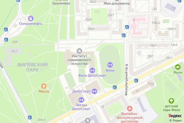 Ремонт телевизоров Район Филвский парк на яндекс карте