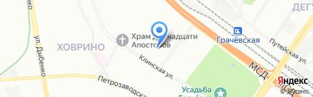 Эскорт на карте Москвы