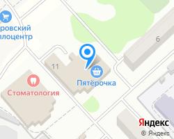 Схема местоположения почтового отделения 141875