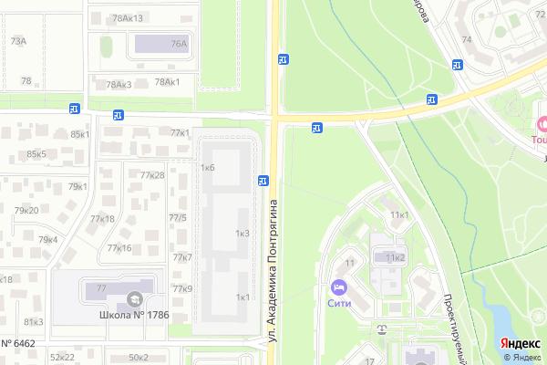 Ремонт телевизоров Улица Академика Понтрягина на яндекс карте