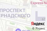 Схема проезда до компании Служба Западного административного округа Управления Федеральной службы РФ по контролю за оборотом наркотиков по г. Москве в Москве