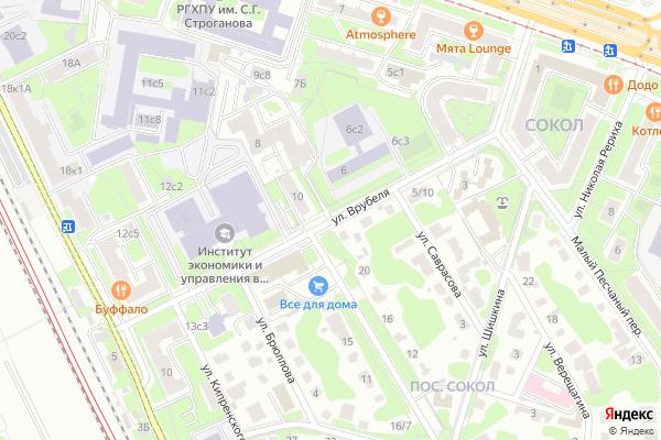 Ремонт телевизоров Улица Врубеля на яндекс карте