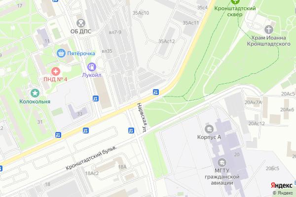Ремонт телевизоров Кронштадтский бульвар на яндекс карте