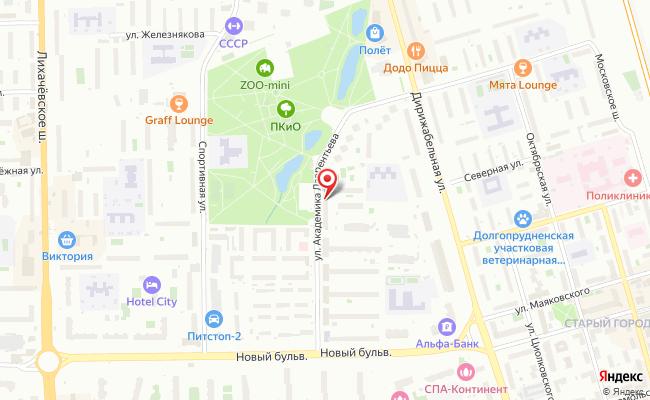 Карта расположения пункта доставки Пункт выдачи в городе Долгопрудный