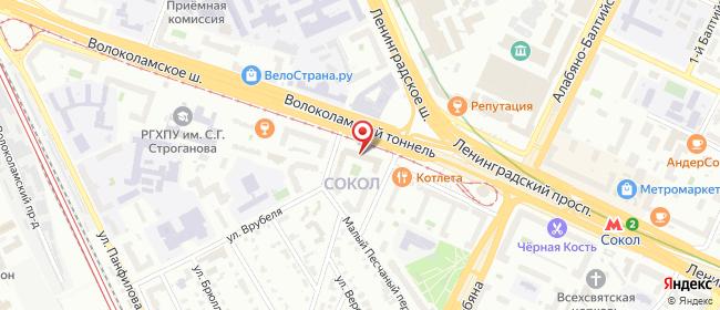 Карта расположения пункта доставки Москва Волоколамское в городе Москва