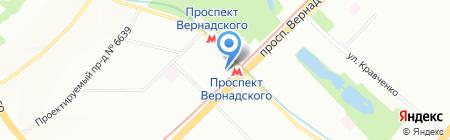 Мон блин на карте Москвы