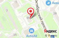Схема проезда до компании Цветоша в Подольске