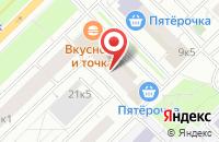 Схема проезда до компании Абсолют М в Москве