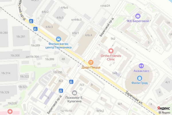 Ремонт телевизоров Береговой проезд на яндекс карте