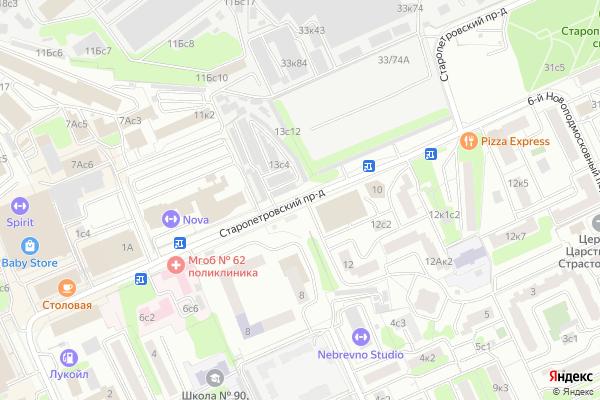 Ремонт телевизоров Старопетровский проезд на яндекс карте