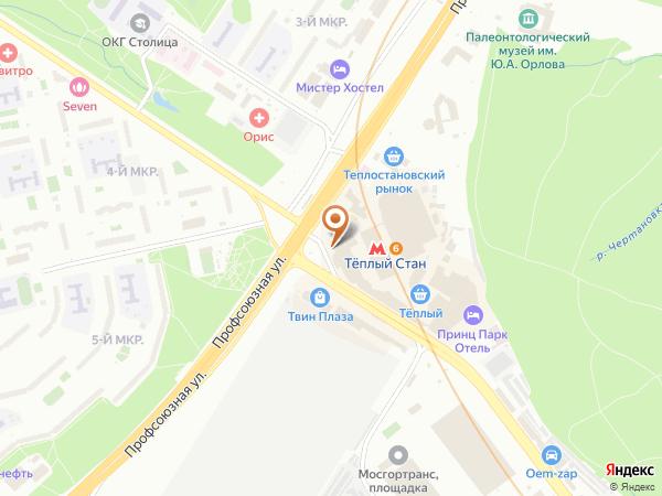 Остановка Метро Теплый Стан (пос.) в Москве