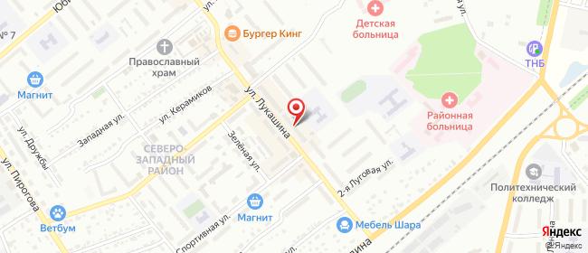 Карта расположения пункта доставки Халва в городе Щекино
