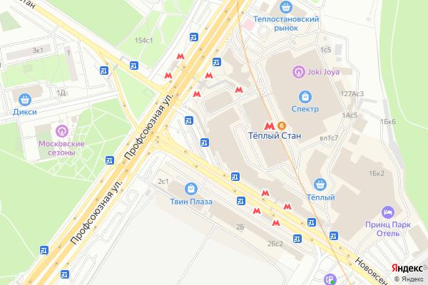 Ремонт телевизоров Метро Тплый Стан на яндекс карте