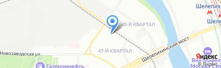 Руснави на карте Москвы