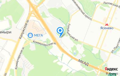 Местоположение на карте пункта техосмотра по адресу г Москва, проезд Одоевского, влд 2 к 1