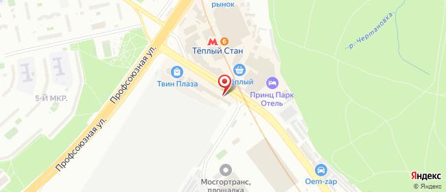 Карта расположения пункта доставки Ростелеком в городе Москва