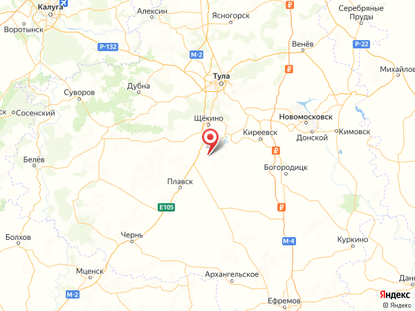 поселок Центральный на карте