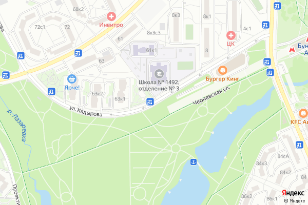 Ремонт телевизоров Улица Кадырова на яндекс карте