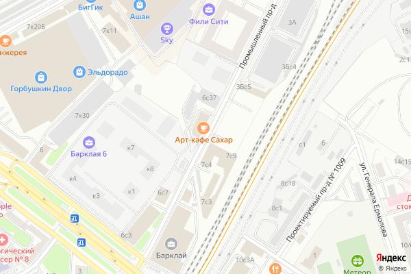 Ремонт телевизоров Промышленный проезд на яндекс карте