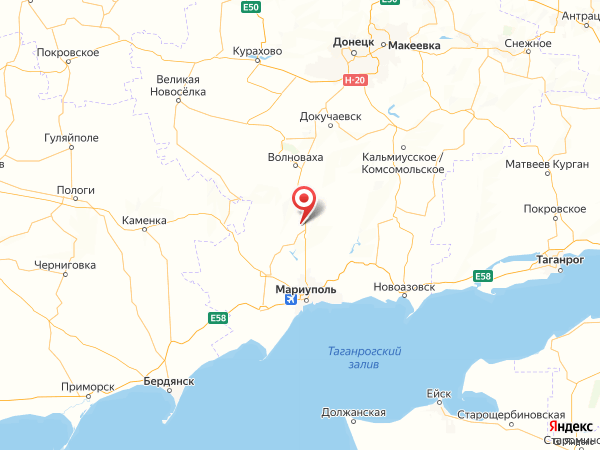 поселок Привольное на карте