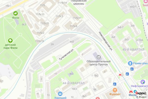 Ремонт телевизоров Улица Тучковская на яндекс карте
