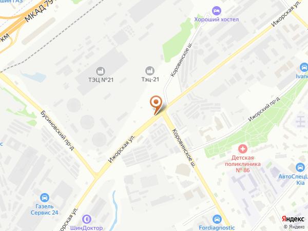 Остановка Ижорская ул. в Москве