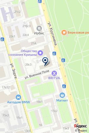 ДК ВСЕРОССИЙСКОЕ ОБЩЕСТВО СЛЕПЫХ (ВОС) на карте Москвы