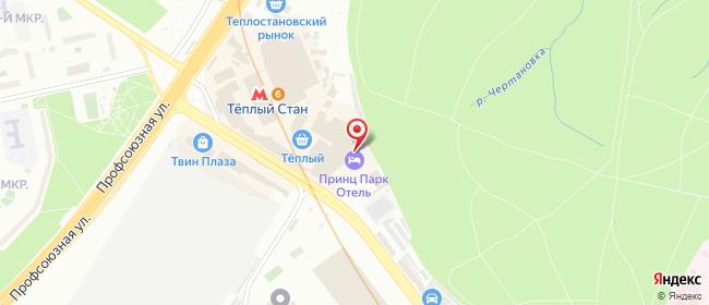 Карта расположения пункта доставки Москва Новоясеневский в городе Москва