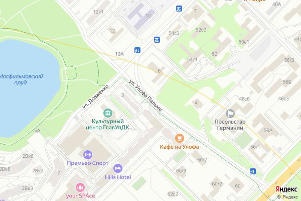 Ремонт телевизоров Улица Улофа Пальме на яндекс карте