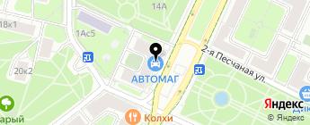 АВТОМАГ на карте Москвы