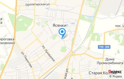 Местоположение на карте пункта техосмотра по адресу Тульская обл, Щекинский р-н, д Ясенки, зд 139Б