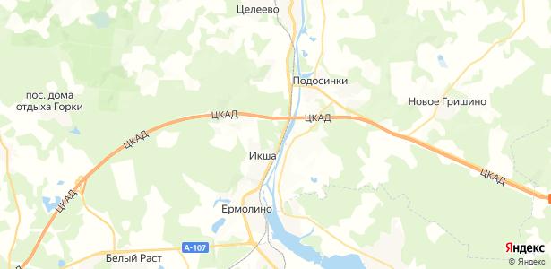 Икша на карте
