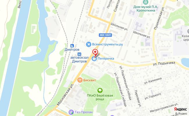 Карта расположения пункта доставки СИТИЛИНК в городе Дмитров