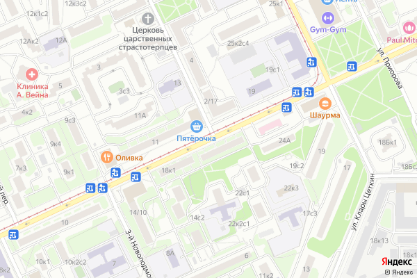 Ремонт телевизоров Улица Зои и Александра Космодемьянских на яндекс карте