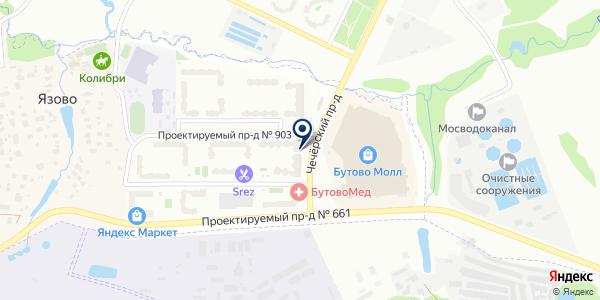 Мини-маркет на карте Москве