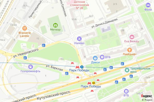 Ремонт телевизоров Улица Генерала Ермолова на яндекс карте