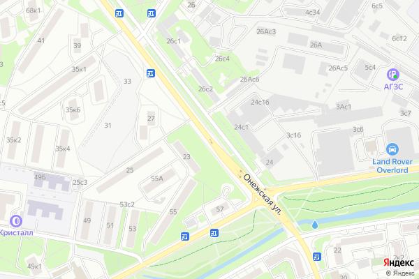 Ремонт телевизоров Улица Онежская на яндекс карте