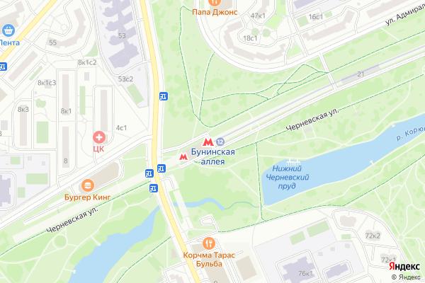 Ремонт телевизоров Метро Бунинская аллея на яндекс карте