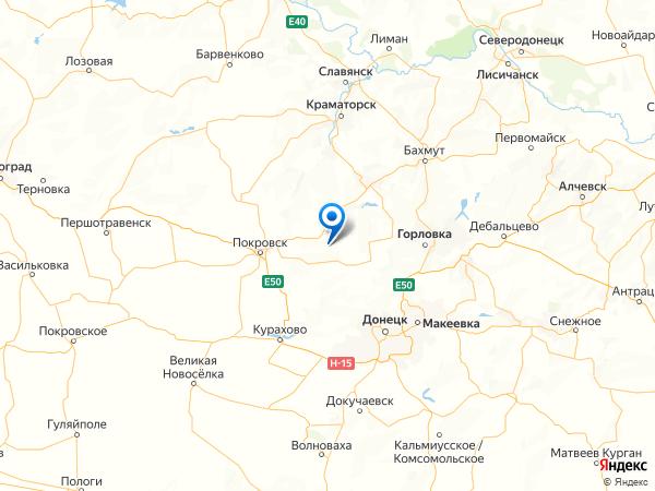 село Воздвиженка на карте